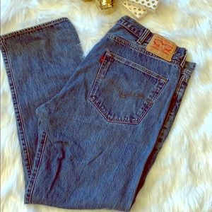 Levis 501 Button Fly Jeans 42x32 RARE